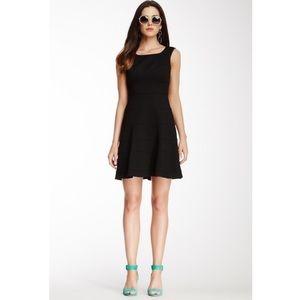 Trina Turk Nikola tiered little black dress size 6